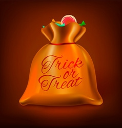 Trick or treat lolly bag vector