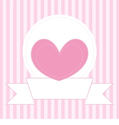 Valentines card or invitation full of love vector image