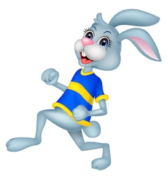 Running rabbit cartoon vector
