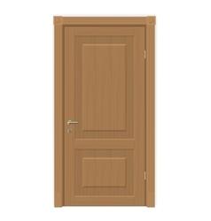 Wooden door isolated vector