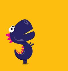cartoon funny dragon cartoon dinosaur vector image