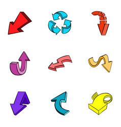 Pointer icons set cartoon style vector