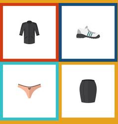 Flat icon dress set of uniform stylish apparel vector