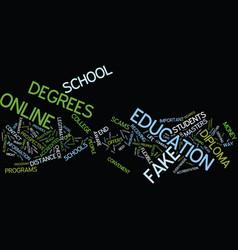 Beware of fake diplomas text background word vector