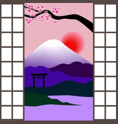 Japanese window vector