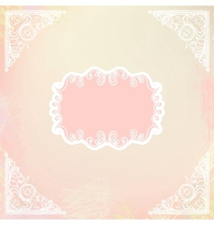 Ornamental decorative blank with frame and corners vector