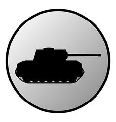 Panzer button vector image