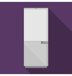 Flat icon for gray refrigerator vector image