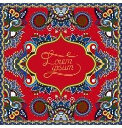 red decorative pattern of ukrainian ethnic carpet vector image