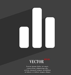 Growth and development concept graph of rate icon vector