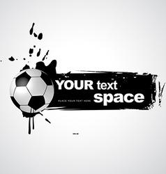 grunge football vector image