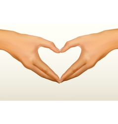 Hands shaped heart vector
