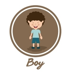 Boy smiling design vector