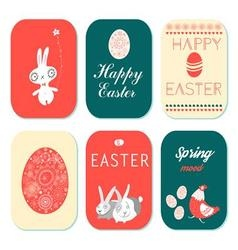 Holiday greeting cards set of 6 pieces to a happy vector