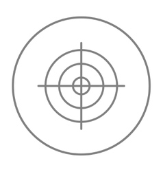 Shooting target line icon vector