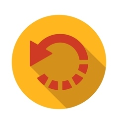 Refresh red arrow icon flat style vector image