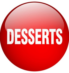 Desserts red round gel isolated push button vector