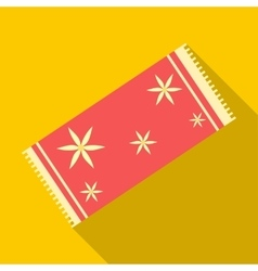 Red towel icon flat style vector