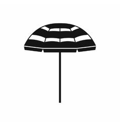 Beach umbrella icon simple style vector