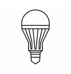 Led bulb icon outline style vector
