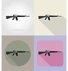 Weapon flat icons 04 vector