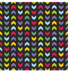 Aztec chevron seamless dark colorful pattern vector