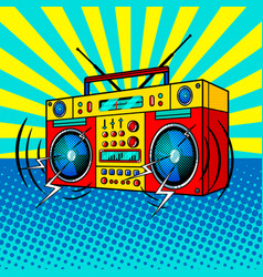 boombox comic book style vector image