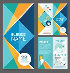 Business brochure modern design template vector