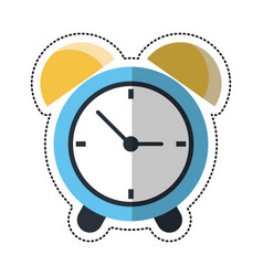Cartoon clock time alarm hour vector