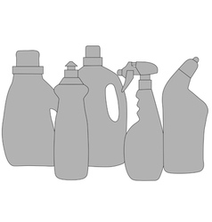 Cleaning products vector
