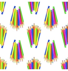 Colorful Pencils Seamles Pattern vector image vector image