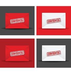 confidential envelope set vector image vector image