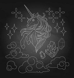 cute graphic unicorn vector image vector image