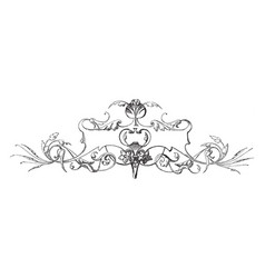 Decorative floral banner have flowers featured on vector