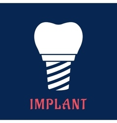 Dental implant with replacement crown vector