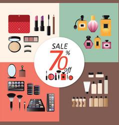 Discount sale makeup design concept set vector