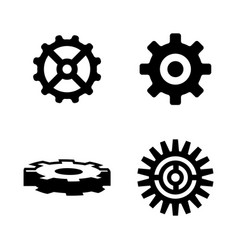 gear simple related icons vector image vector image