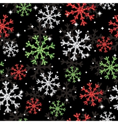 glitter snowflake pattern vector image