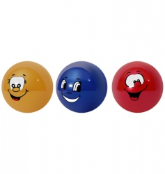 happy balls vector image