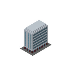 isolated building isometric office element vector image