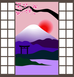 Japanese window vector