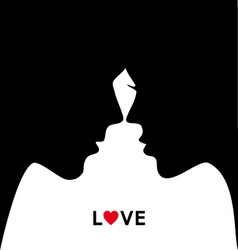 Kissing couple in love vector