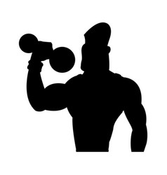 man weight lifting bodybuilding sport pictogram vector image