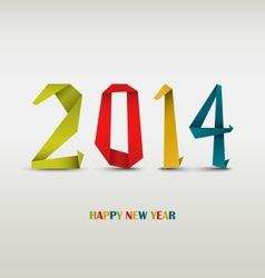 New year card with folded colored paper vector
