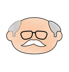 Old man face vector