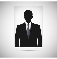 Profile picture whith tie unknown person vector