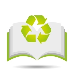 recycle symbol eco design vector image