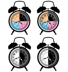 retro alarm clocks vector image vector image