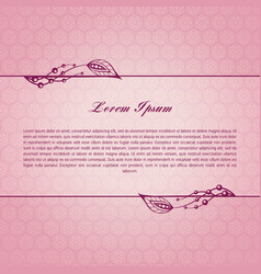 rose calligraphic elements vector image vector image