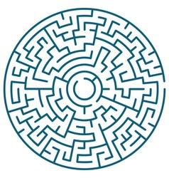 Round maze vector